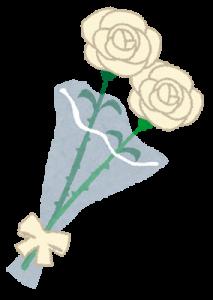 父の日は白いバラのプレゼント