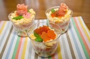 カップ寿司の写真