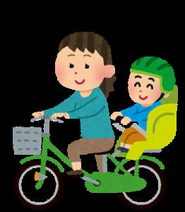 自転車で雨の日に子供の送迎