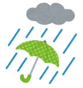 除草剤雨の日