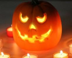 ハロウィンのかぼちゃの顔