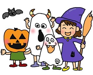 ハロウィン衣装の子供用