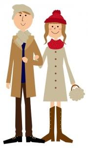 クリスマスデートの服