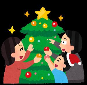 クリスマスの飾りを手作り