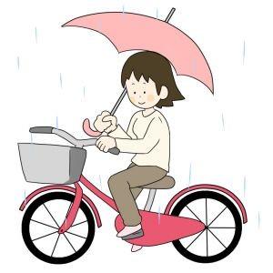 自転車の傘