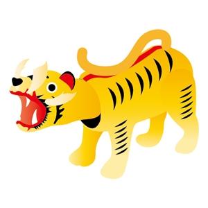 五月人形に張子の虎を飾る意味