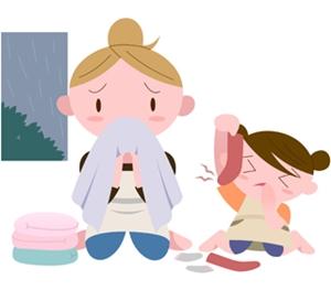 梅雨の洗濯物の臭い対策